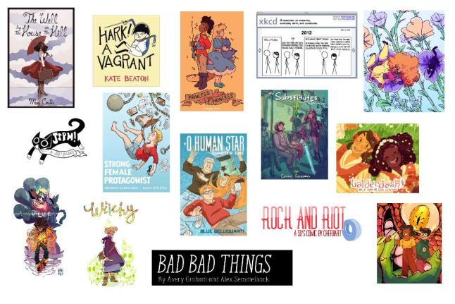 web comic collage